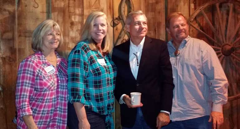 NAIFA-Arizona National Committee Jim Bennett, Immediate Past President Tracy Jones and Executive Vice President Patricia Chesebrough at an event with U.S. Congressman David Schweikert.