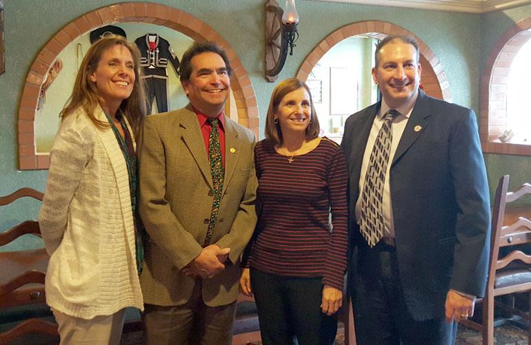 Connie Jo McAndrews, NAIFA-Tucson IFAPAC Chair. Michael Sandoval, CLU, ChFC, NAIFA-Arizona Immediate Past President, Congresswoman McSally, Seth Krasne, LUTCF, CLTC, NAIFA-Arizona President-Elect.