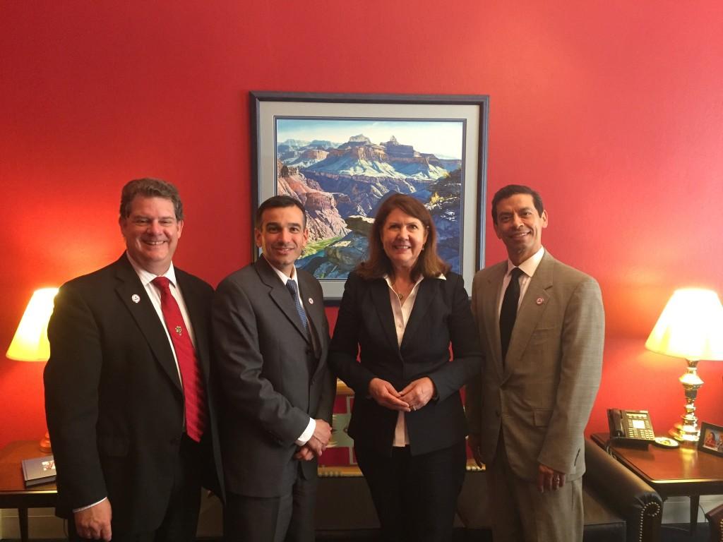 'Hoot' Gibson, Michael Klein, Congresswoman Ann Kirkpatrick, Carmelo Alvarez