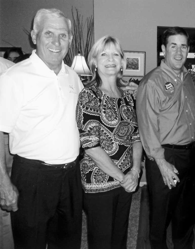 Far left, Dwight Loeffler, Past NAIFA-Arizona President and Patricia Chesebrough, NAIFA-Arizona Executive Vice President with, now, Governor Ducey.
